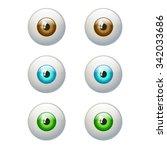 Set Of Colorful Eyes. Brown ...