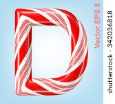 Mint Hard Candy Cane Vector...