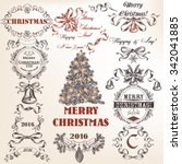 christmas collection or set of... | Shutterstock .eps vector #342041885