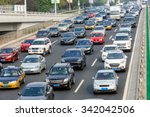 Modern City Traffic Jam In The...