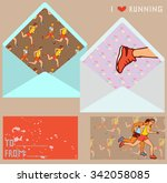 vector collection of ranning.... | Shutterstock .eps vector #342058085