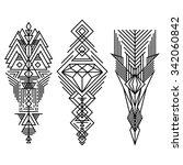geometric linear trendy hipster ... | Shutterstock .eps vector #342060842