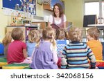 group of pre school children... | Shutterstock . vector #342068156