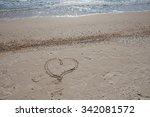 Heart Drawn On The Sand  Azov...