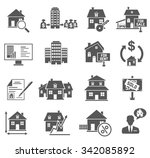 real estate icons set | Shutterstock .eps vector #342085892