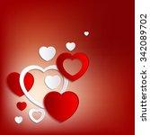lovely heart background | Shutterstock .eps vector #342089702