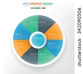 circle chart info graphic... | Shutterstock .eps vector #342090506