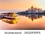 View Of Budapest Parliament At...