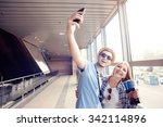 we love traveling  vacation... | Shutterstock . vector #342114896
