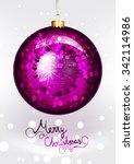 christmas ornament. vector... | Shutterstock .eps vector #342114986