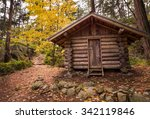 Log Cabin In A Forest In The...