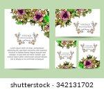 vintage delicate invitation... | Shutterstock .eps vector #342131702