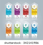banner on the product... | Shutterstock .eps vector #342141986