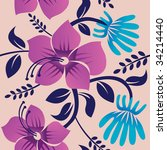 floral background  vector... | Shutterstock .eps vector #34214440