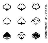 vector black cotton icon set. | Shutterstock .eps vector #342146546