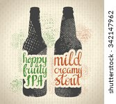 hand drawn craft beer poster.... | Shutterstock .eps vector #342147962