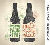 hand drawn craft beer poster.... | Shutterstock .eps vector #342147962
