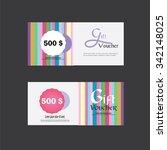 gift voucher. gift certificate. ...   Shutterstock .eps vector #342148025