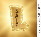 shiny retro lights vector arrow ... | Shutterstock .eps vector #342165296