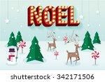 christmas scene vector... | Shutterstock .eps vector #342171506