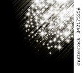vector glittery lights silver... | Shutterstock .eps vector #342175256