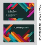 colorful business card design ... | Shutterstock .eps vector #342177932