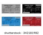 set of colorful concert tickets ...