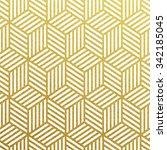 geometric gold glittering... | Shutterstock .eps vector #342185045