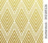 geometric gold glittering... | Shutterstock .eps vector #342185126