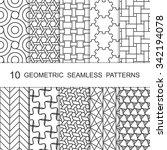 seamless geometric pattern set. ...   Shutterstock .eps vector #342194078