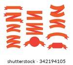 banner ribbons vector set  | Shutterstock .eps vector #342194105