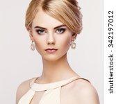 portrait of beautiful sensual... | Shutterstock . vector #342197012