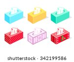 colorful tissue boxes for... | Shutterstock .eps vector #342199586