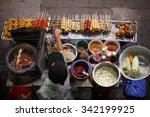 top view of a thai street food... | Shutterstock . vector #342199925