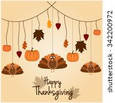 happy thanksgiving greeting... | Shutterstock .eps vector #342200972