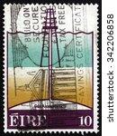 ireland   circa 1978  a stamp... | Shutterstock . vector #342206858