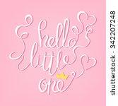 original handwritten hello... | Shutterstock .eps vector #342207248