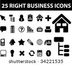 25 right business icons. vector | Shutterstock .eps vector #34221535