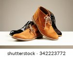 a lot of men's shoes.fashion... | Shutterstock . vector #342223772