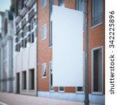 white banner flag near the... | Shutterstock . vector #342225896