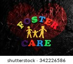 paper family with foster care... | Shutterstock . vector #342226586