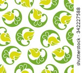 abstract green and yellow... | Shutterstock .eps vector #342227588