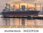 Cargo Ship Beside The Oil...
