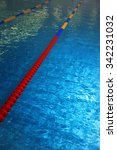 swimming pool with lane markers.... | Shutterstock . vector #342231032