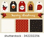 a set of christmas printables   ... | Shutterstock .eps vector #342232256