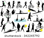 sport collection vector... | Shutterstock .eps vector #342245792