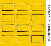 set hand drawn rectangle  felt... | Shutterstock .eps vector #342246086