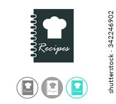 recipe book vector icon. | Shutterstock .eps vector #342246902