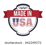 usa emblematic seal design ... | Shutterstock .eps vector #342249272