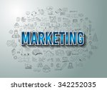 marketing success with doodle... | Shutterstock .eps vector #342252035